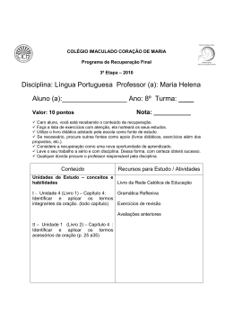 Língua Portuguesa (Prof. Maria Helena)