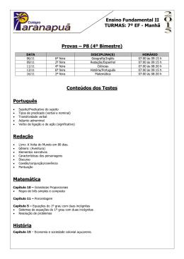 P8 - 4° Bim - 7º ano Ensino Fundamental