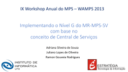 Implementando o Nível G do MR-MPS-SV com base no