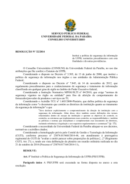 resolução n° 32/2014 - Universidade Federal da Paraíba