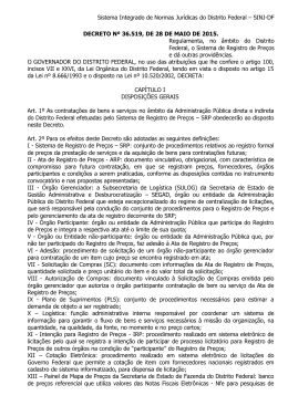 Decreto nº 36.519, de 28 de maio de 2015