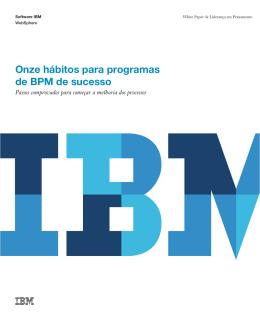 Onze hábitos para programas de BPM de sucesso