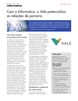 Com a Informatica, a Vale potencializa as relações de parceria