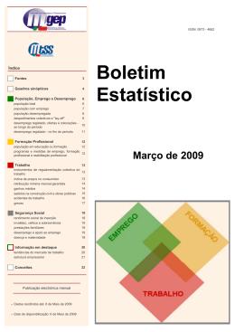Março de 2009 - Gabinete de Estratégia e Planeamento