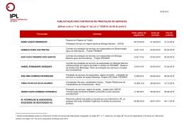 Prestações de serviços de 2014