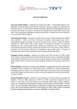 LISTA DE CURRÍCULOS Ana Luíza Simões Muller