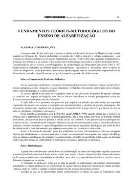 fundamentos teórico-metodológicos do ensino de - SED