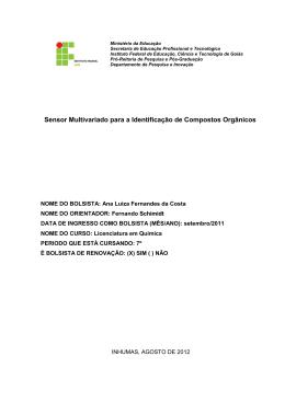 """""""Sensor Multivariado para a Identificação de Compostos"""