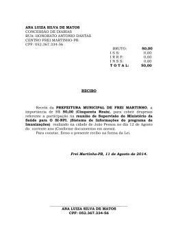 ANA LUIZA SILVA DE MATOS CONCESSÃO DE DIARIAS RUA