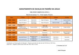 AGRUPAMENTO DE ESCOLAS DE PADRÃO DA LÉGUA