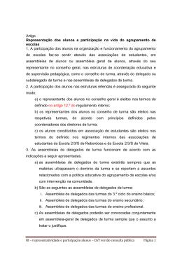 representação e participação - Agrupamento de Escolas de VILELA