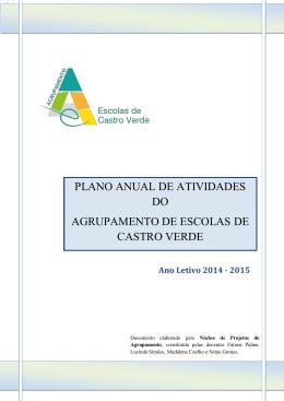 Planos Anual de Atividades 2014-2015 - Agrup. Escolas