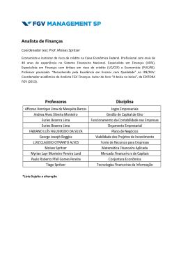 Lista de Professores-Analista de Finanças 2015