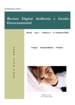 Revista Digital Auditoria e Gestão Governamental