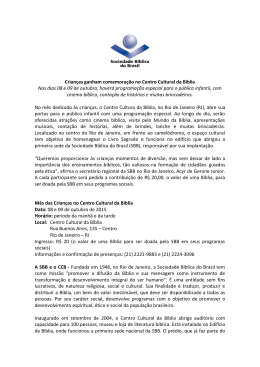 - Sociedade Bíblica do Brasil