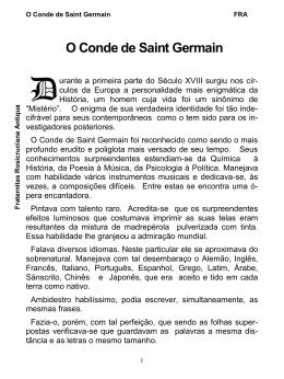 O Conde de Saint Germain - Fraternitas Rosicruciana Antiqua