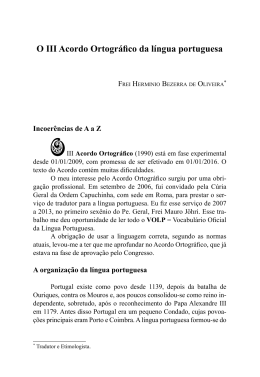 O III Acordo Ortográfico da língua portuguesa
