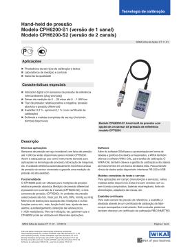 Hand-held de pressão Modelo CPH6200-S1
