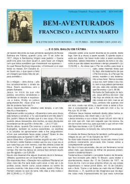 - Postulação de Francisco e Jacinta Marto