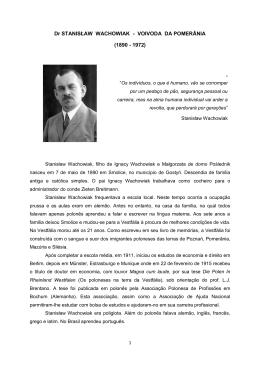 Dr STANISŁAW WACHOWIAK - VOIVODA DA