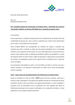 carta para a Senadora Ana Amélia