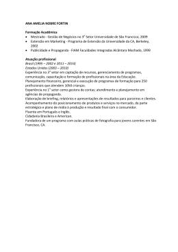 ANA AMELIA NOBRE FORTIN Formação Acadêmica • Mestrado