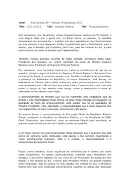 Confira aqui a íntegra do discurso da Senadora Ana Amélia Lemos