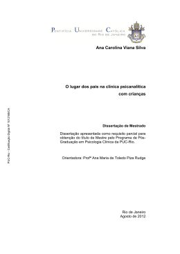 Ana Carolina Viana Silva O lugar dos pais na clínica