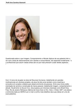 Perfil Ana Carolina Gismonti