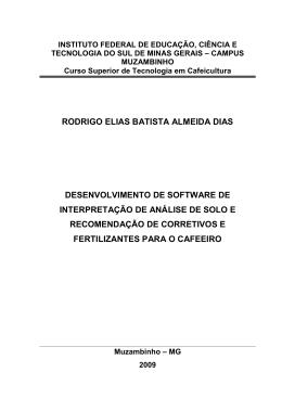 RODRIGO ELIAS BATISTA ALMEIDA DIAS DESENVOLVIMENTO