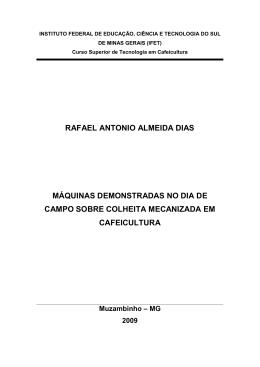 RAFAEL ANTONIO ALMEIDA DIAS MÁQUINAS