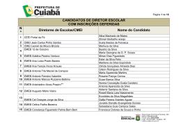 CANDIDATOS DE DIRETOR ESCOLAR COM INSCRIÇÕES