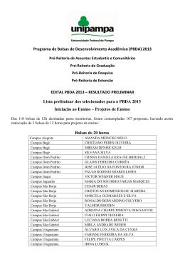PBDA 2013 - Resultado