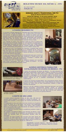 Boletim Museu da Musica 02 - MUSEU DA MÚSICA