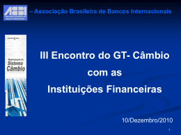 Apresentação da ABBI - Banco Central do Brasil