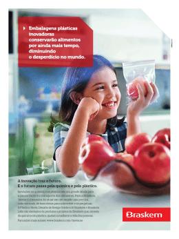 Embalagens plásticas inovadoras conservarão alimentos