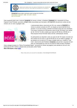 Consórcio lança plano exclusivo para compra de imóveis