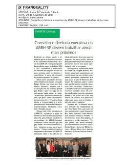 Almiro_Conselho e diretoria executiva da ABRH-SP