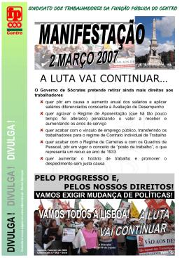 GOVERNO QUER AGRAVAR AINDA MAIS, AS CONDIES DE