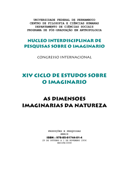 xiv ciclo de estudos sobre o imaginario as dimensoes imaginarias