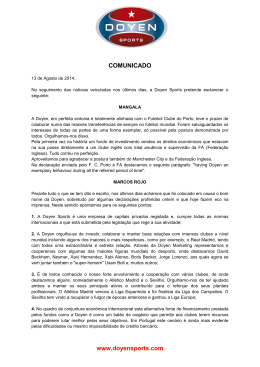 doyen official press release 13/08/2014