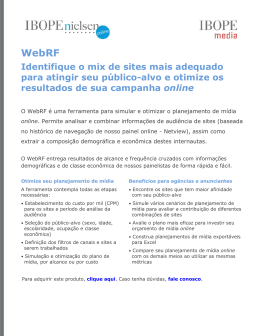 Identifique o mix de sites mais adequado para atingir seu