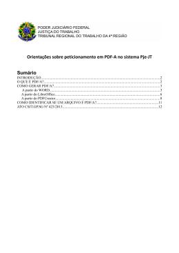 Orientações sobre peticionamento em PDF-A no sistema Pje