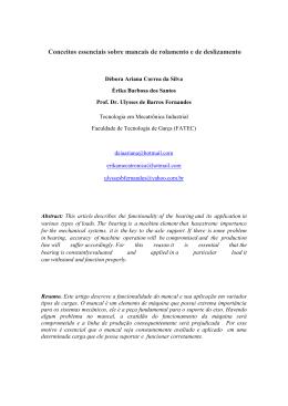 Conceitos essenciais sobre mancais de rolamento e