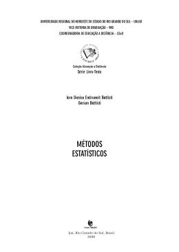Métodos estatísticos - Biblioteca Digital da UNIJUÍ