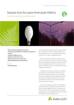 Solução Aura Eco para Iluminação Pública