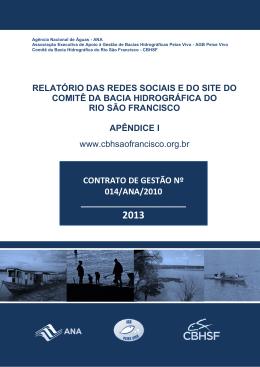 Relatório de Redes Sociais e Site CBHSF