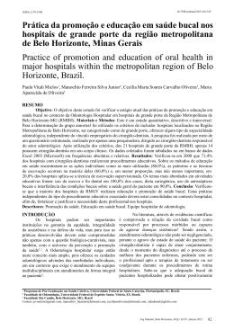 Prática da promoção e educação em saúde bucal