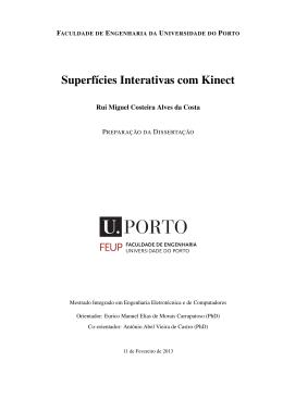 Superfícies Interativas com Kinect