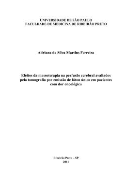 Adriana da Silva Martins Ferreira Efeitos da massoterapia na